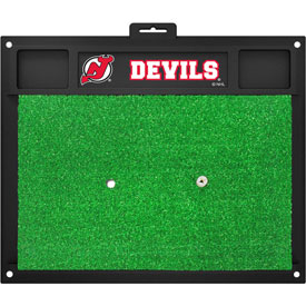 Fan Mats Nhl New Jersey Devils Golf Hitting Mat 20 X 17