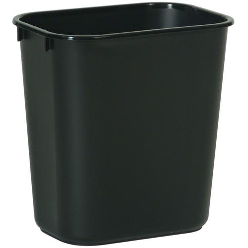 Rubbermaid Wastebasket - 13-5/8-Quart Capacity - Black