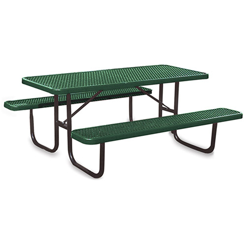 Ultraplay Thermoplastic Coated Steel Picnic Table - 1-5/8' Dia. Frame - 6'L - Green