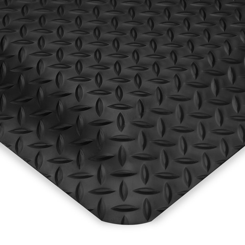 Relius Solutions Smart Diamond-Plate Mat - 2x3' - 1' - Black