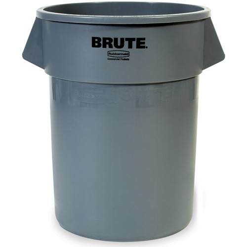 Rubbermaid Brute Round Container - 10-Gallon Capacity - Gray