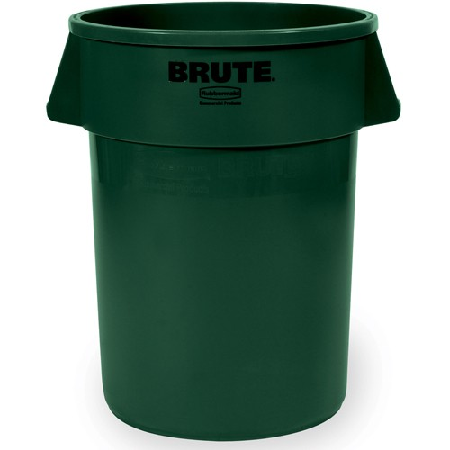 Rubbermaid Brute Round Container - 32-Gallon Capacity - Green