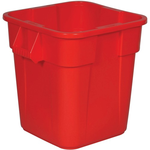 Rubbermaid Brute Square Container - 28-Gallon Capacity - Red