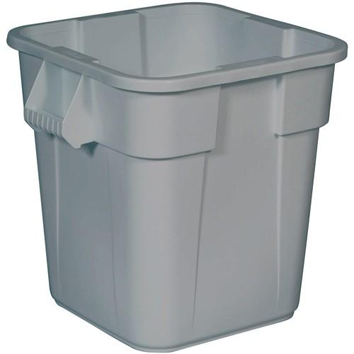 Rubbermaid Brute Square Container - 28-Gallon Capacity - Gray