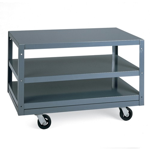 Edsal All-Welded Mobile Tables - 36'Wx24'D Shelf - 3 Shelves