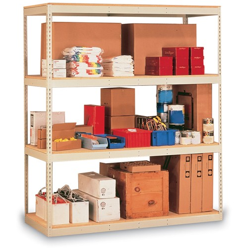 Penco Rivet-Rite Double-Rivet Shelving - 48x24x84' - Particleboard Decking