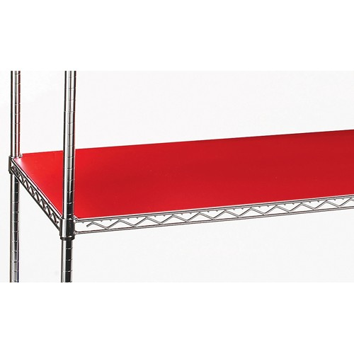 Relius Solutions Pvc Shelf Liners For 1' Dia. Post Shelving - 36x18' - Package Of 2 - Red