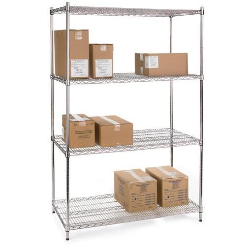 Relius Solutions Wire Shelving With Chrome Finish