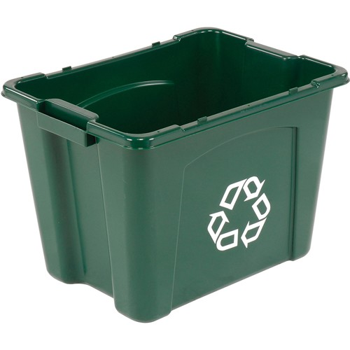 Rubbermaid Recycling Bin - 14-Gallon Capacity - Green