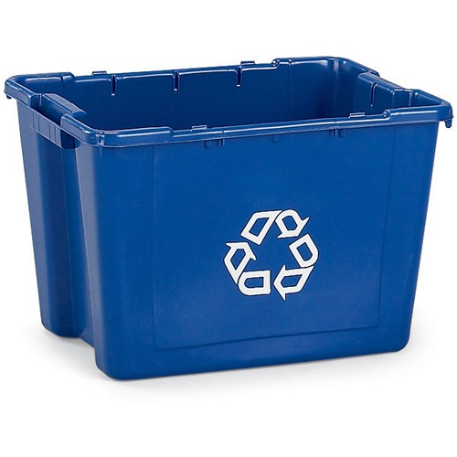 Rubbermaid Recycling Bin - 14-Gallon Capacity - Blue