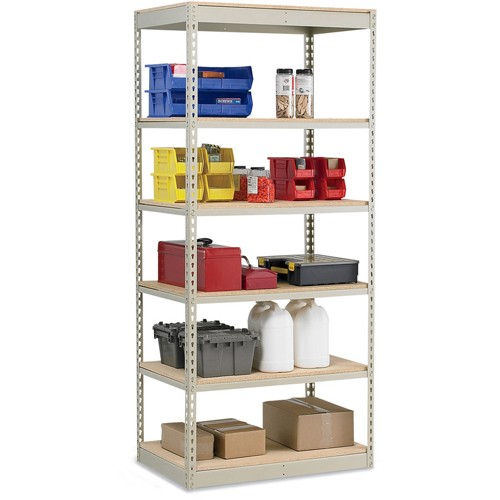 Penco Rivet-Rite Single-Rivet 600-Lb. Capacity Shelving - 36x24x84' - Particleboard Deck - Starter