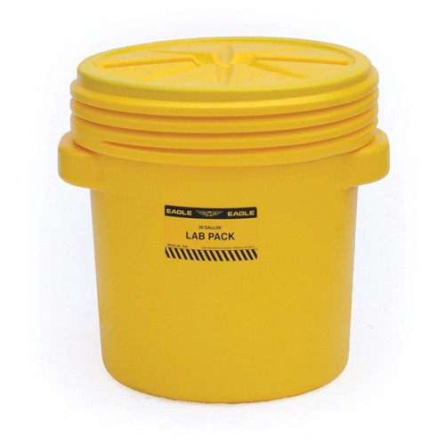 Eagle Poly Overpack/Salvage Drum - 20-Gallon Capacity - Screw-On Lid
